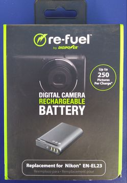 DigiPower Re-Fuel Camera Replacement Battery for Nikon EN-EL23 Brand New for Sale in Los Angeles,  CA