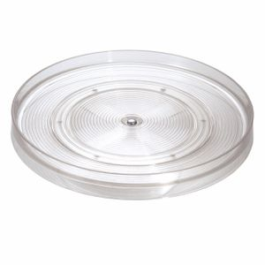 """InterDesign Linus Lazy Susan Turntable Spice Organizer Rack for Kitchen Pantry, Cabinet, Countertops, 11"""", Clear for Sale in El Monte, CA"""