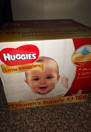 Huggies SIZE: 2 (186 count) for Sale in Stockbridge, GA