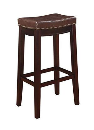 """32"""" barstool saddle stool bonded leather brown stool - MANY 30"""" EACH for Sale in Anaheim, CA"""