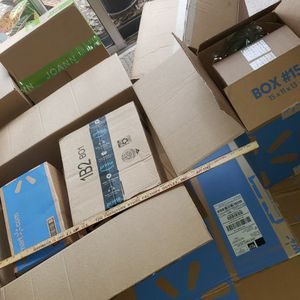 15 Medium , 3 Large, 15 Small Cardboard Packing Boxes Used Once, Sturdy for Sale in Largo, FL