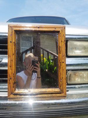 Fractal burnt wooden frame for Sale in Pawhuska, OK