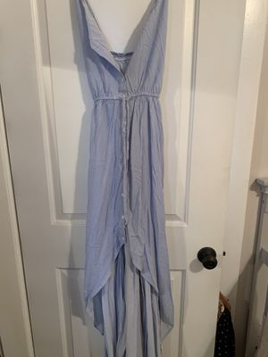 Blue and white striped high low cotton on dress for Sale in Riverside, CA