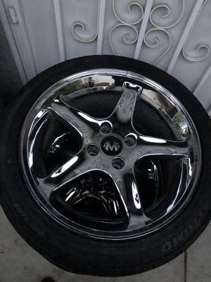 """17"""" 4x4.25 fits foxbody mustangs, cobra 4-lug I purchased these wheels a week ago for my 68 mustang but the bolt pattern was sli for Sale in Hemet, CA"""
