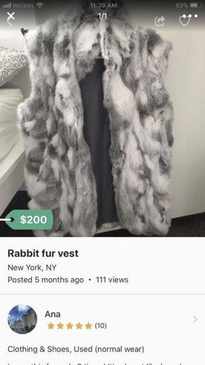 Rabbit fur vest for Sale for sale  New York, NY