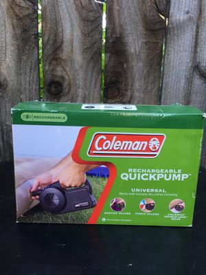 Coleman quick air pump camping inflatable mattress for Sale in Riverside, CA