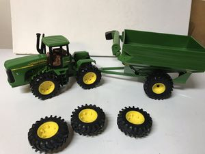 John Deere Big Farm 9620 Tractor Narrow Front and Grain Cart Tractor (1:32 Scale) ERTL DieCast for Sale, used for sale  Kenmore, WA