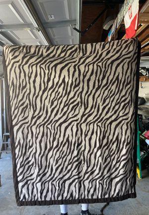 Zebra Striped Sherpa Blanket for Sale in Elmhurst, IL