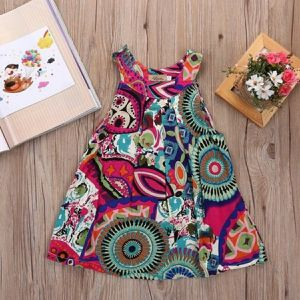 Summer toddler girl sleeveless flowers dress. for Sale in Homestead, FL