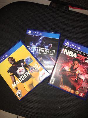 3 PS4 games for Sale in North Miami, FL