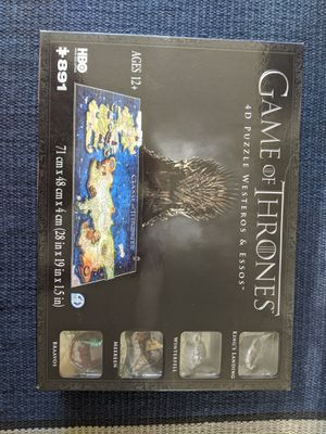 Game of Thrones 4D Puzzle - Sealed Box for Sale in Seattle, WA
