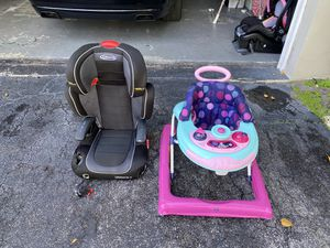 Booster car seat & Baby walker for Sale in Boca Raton, FL