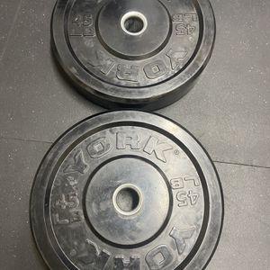 Bumper Plates (45 Lbs) for Sale in Falls Church, VA