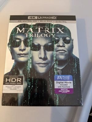 The Matrix Trilogy 4K/Blu-Ray/Digital for Sale in Somerset, NJ