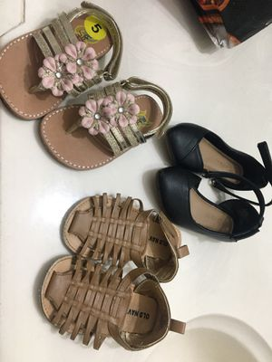Baby girl sandals, boots and tennis shoes for Sale in Sacramento, CA