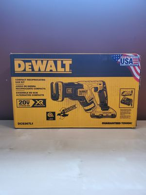 DEWALT 20-Volt MAX Lithium-Ion Cordless Brushless Compact Reciprocating Saw with Battery 3Ah, Charger and Kit Bag for Sale in Frederick, MD