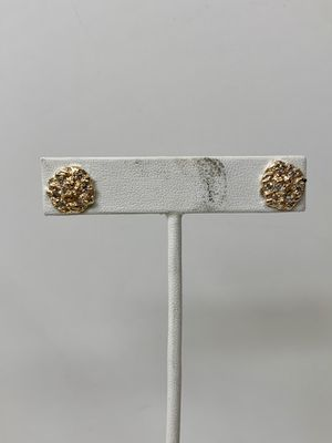 10KT Yellow Gold Nugget Diamond Earrings 114242/12 for Sale in Federal Way, WA