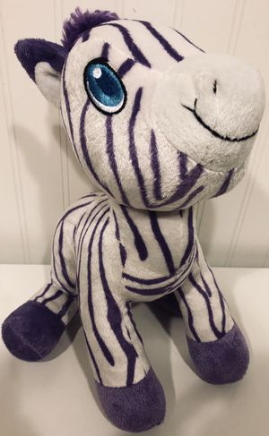 "Sugar Loaf Kellytoy Stripped Purple CUTE ZEBRA 11"" Plush Stuffed Animal for Sale in Columbus, OH"