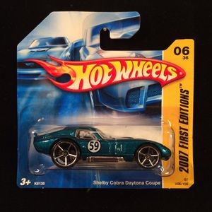 Hot Wheels 2007 First Editions Shelby Cobra Daytona Coupe Rare Teal • OH5SP Wheels • Rare Short Card for Sale in Keller, TX