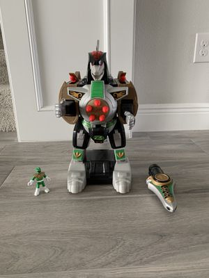 Fisher-Price Imaginext Power Rangers Green Ranger & Dragonzord Rc for Sale in Lakewood Ranch, FL