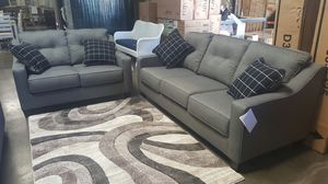 Ashley Furniture Charcoal Sofa and Loveseat for Sale in Fountain Valley, CA