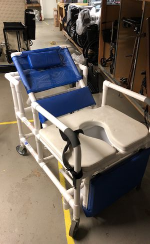 Used, Bariatric pvc commode shower chair for Sale for sale  Elizabeth, NJ