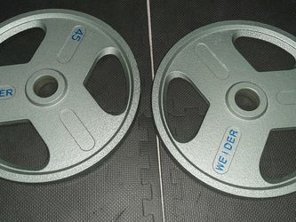 🗽🗽⭐️⭐️⭐️ Olympic Weights set. Weight plates sold together. 2(45)lb. pesas olimpicas.🗽🗽⭐️⭐️⭐️ for Sale in Fairview,  NJ