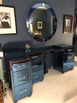 ART DECO DRESSING TABLE, MIRROR & NIGHT STANDS for Sale in Los Angeles, CA