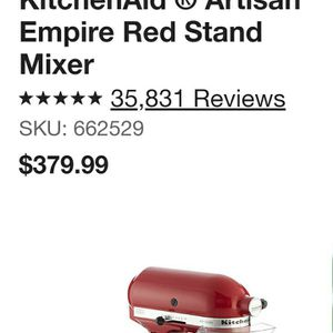 Red KITCHENAID mixer for Sale in Bakersfield, CA
