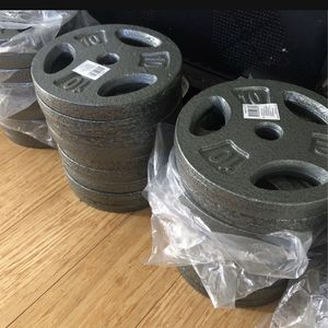 """🚨Weights Plates 10 lbs 🚨1"""" Inch Hole 🔥( $1.50 Per Pounds 🔥Brand New )🤩 for Sale in Miami, FL"""