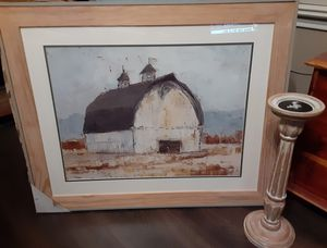 !!!Just REDUCED!!! New Farmhouse Picture and Wooden Candlestick Holder!!! for Sale in San Antonio, TX