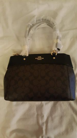 Black Coach Leather & Canvas Carryall Handbag for Sale in Chicago, IL