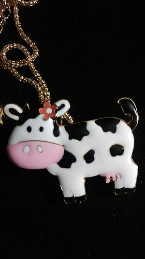 Betsey Johnson enamel cow necklace / brooch for Sale in Fresno, CA