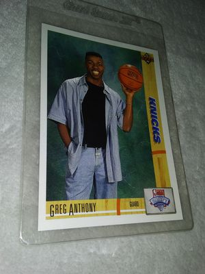 Knicks Greg Anthony card 7 in mint condition asking 10$ for Sale in Stockton, CA