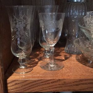 Antique Vintage Custom Etched Glasses for Sale in Las Vegas, NV