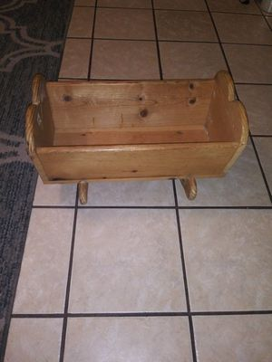 Small Wooden doll rocker for Sale in Fresno, CA