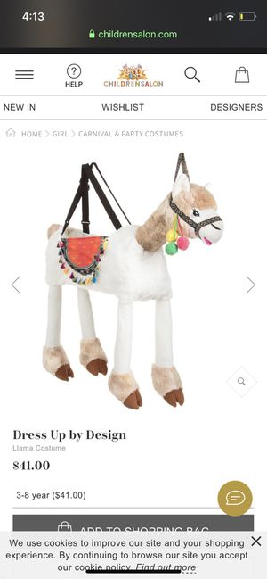 Llama costume brand new tags attached for Sale in Lynnfield, MA