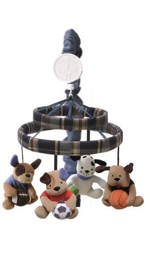 Lambs & Ivy! NEW! Bow Wow Buddies! Dog and sports team musical crib mobile! Boy! for Sale in Cranberry Township, PA