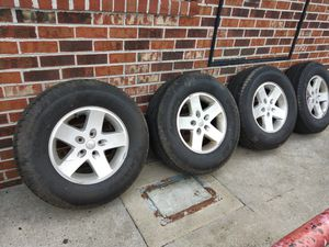 Set of wheels and rims Jeep Wrangler for Sale in Colonial Heights, VA