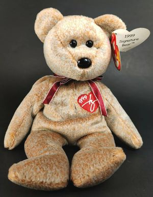RARE TY BEANIE BABY 1999 SIGNATURE BEAR WITH TAG ERRORS EXCELLENT CONDITION for Sale in Winter Haven, FL