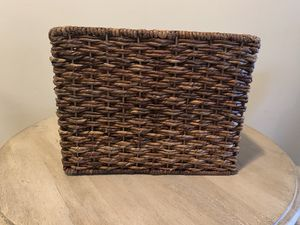 Set of 2 woven decorative storage baskets for Sale in San Francisco, CA