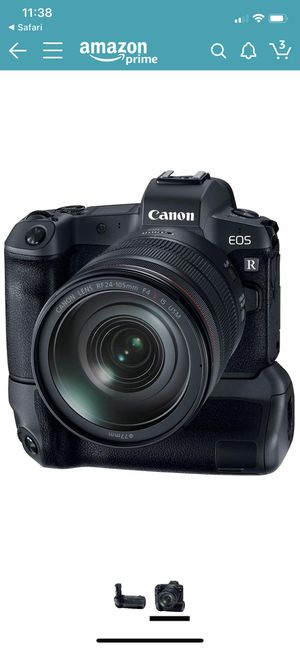 Canon EOS R 30.3MP Digital Camera - (Body Only) + BG-e22 Battery Grip. Condition like in new condition. for Sale in Hialeah, FL