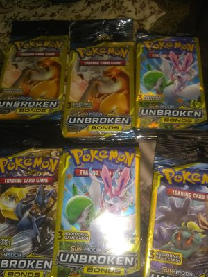 6 pks of Pokemon trading cards unbroken bonds for Sale in Tarpon Springs, FL