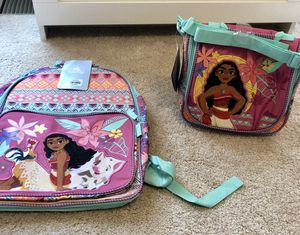 Disney's Moana Backpack And Lunch Pail for Sale in Woodbridge, VA