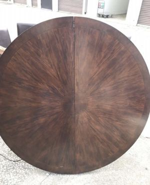 Heavy mahogany wooden table with leaf for Sale in Saint Petersburg, FL