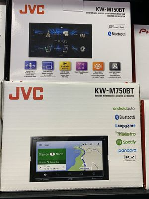 JVC DOUBLE DIN CAR STEREO CAR PLAY ANDROID AUTO TOUCH SCREEN for Sale in Irving, TX
