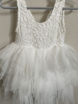 6-12 Month Size Beautiful Backless A-Line Lace Back Flower Girl Or First Birthday Dress for Sale in Renton,  WA