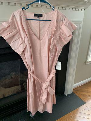Eloquii Pink Dress W/ Pearl Trim for Sale in Ashburn, VA
