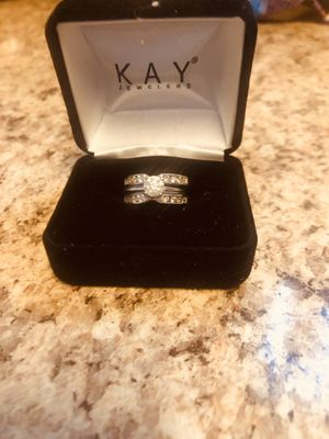 Engagement ring and wedding band size 5 3/4. Can be sized for Sale in Essex, MD
