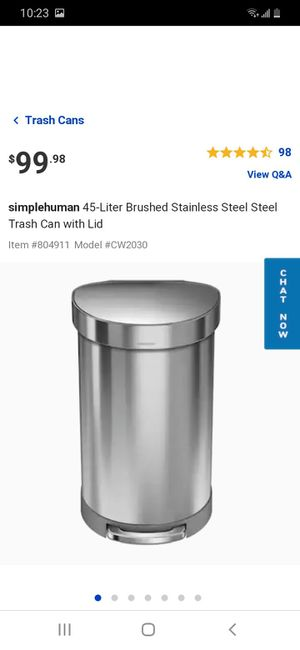 45 L Simple human trash can fingerprint-proof for Sale in Las Vegas, NV